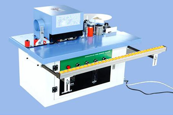 Manual edge banding machine with Fine trimming unit